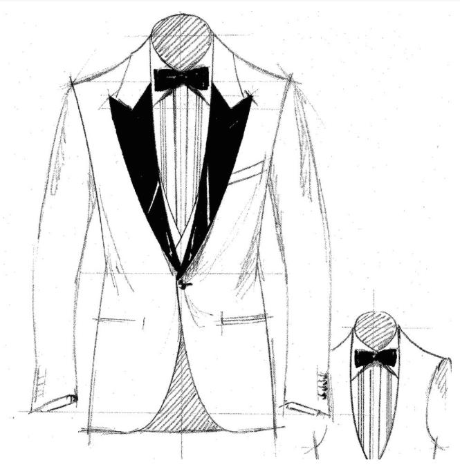 Sketch of tuxedo